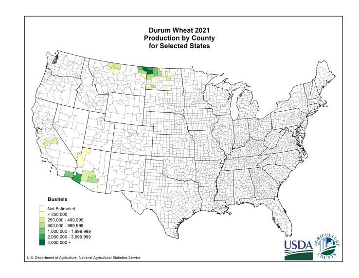 USDA National Agricultural Statistics Service Charts And Maps - Us wheat production map