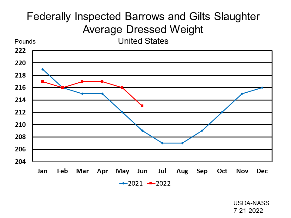 Federally Inspected Barrows and Gilts Slaughter