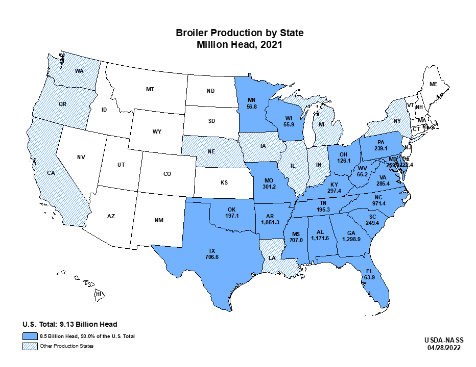 broilers inventory by state us