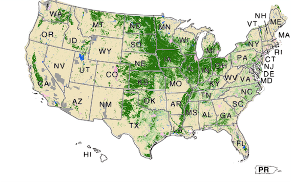 united states land use map USDA   National Agricultural Statistics Service   Research and